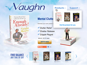 Vaughn Murphy detailed product web page design